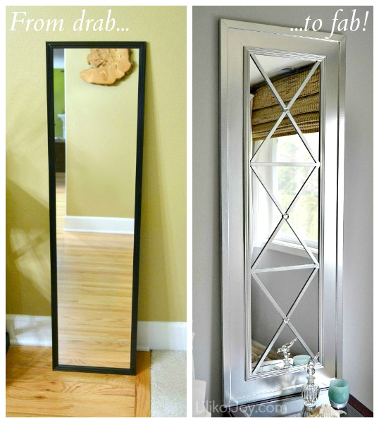 Turn a low value door mirror into a masterpiece using a sheet of mdf ...