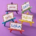 DIY Place Settings Easels