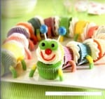 Colourful Caterpillar Cupcakes