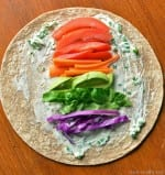 Super Healthy Rainbow Wraps