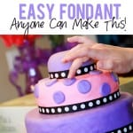 Easy Marshmallow Fondant