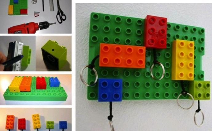 Diy Lego Key Rings And Wall Mount Upper Sturt General Store