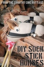 DIY Sock Stick Horses