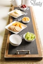 How to Make a Chalkboard Serving Tray