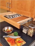 DIY Knife Block Pull Out Drawer