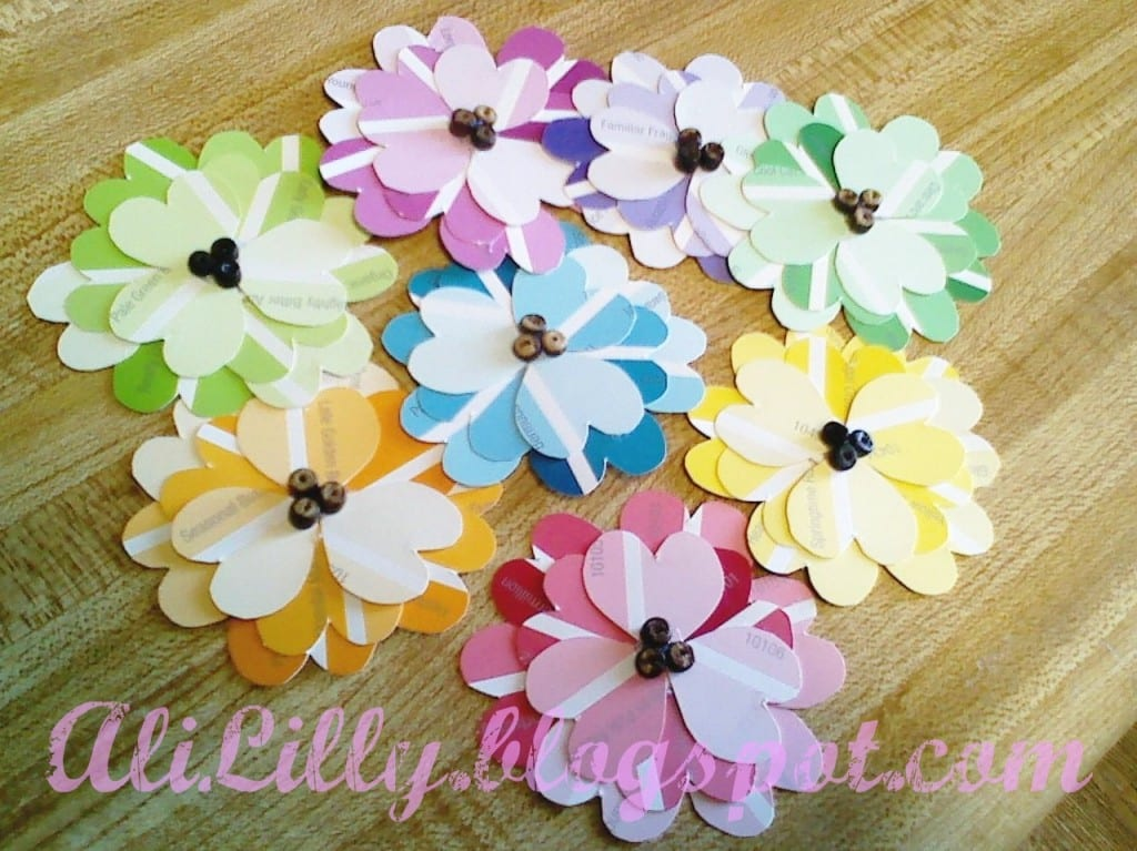 DIY Spring Flowers from Paint Chips   upper sturt general ...