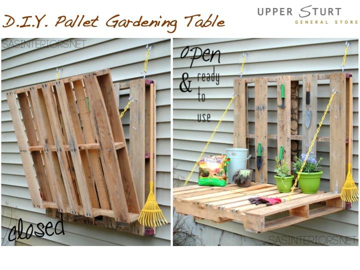 D I Y Pallet Gardening Table Upper Sturt General Store