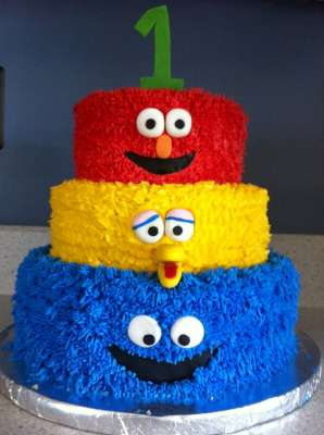 sesame street cake idea
