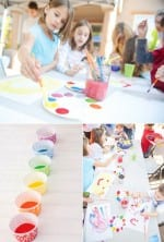 Cup Cake Liners as Paint Pots