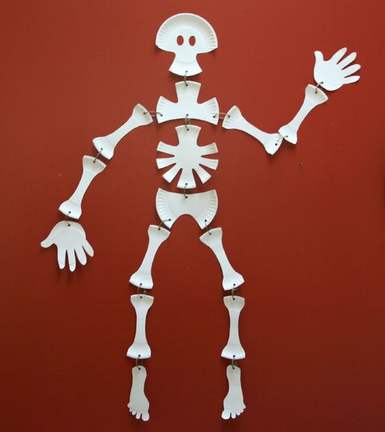 Skeleton made from Paper Plates