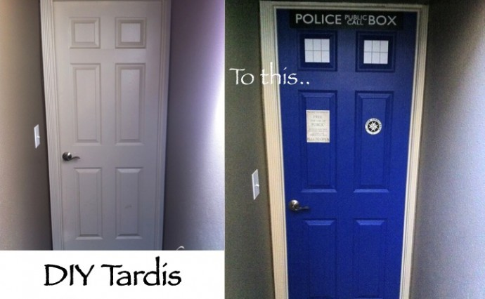 DIY TARDIS Door Makeover