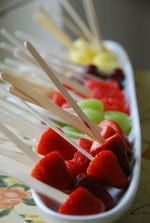 Fresh Fruit Lollipops