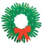 Make a Wreath from Your Children's Handprints