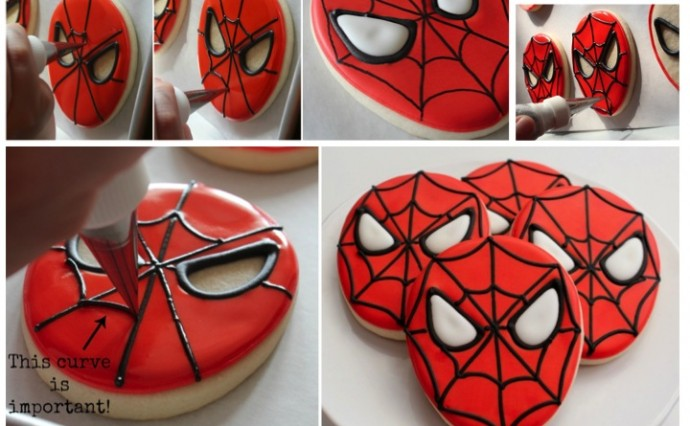 Spiderman Biscuit Tutorial upper sturt general store