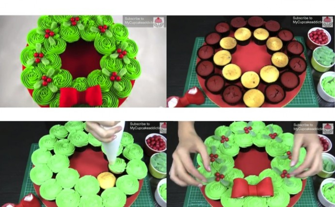 Pull Apart Christmas Wreath Cake
