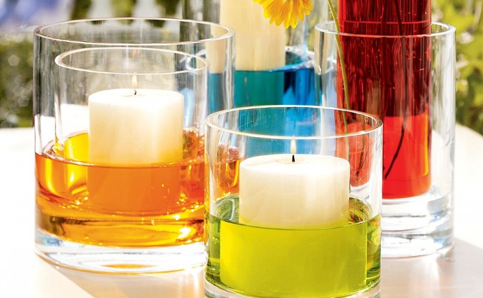 Colourful Candle Centerpiece