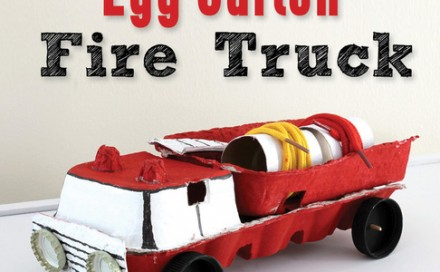 Egg Carton Fire Truck