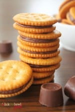 Rolo Stuffed Ritz Biscuits