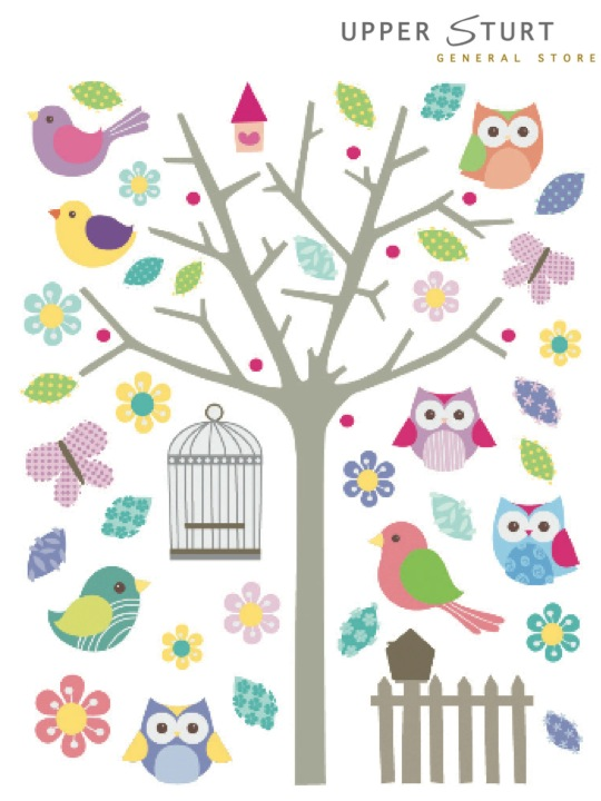 Wall Stickers - Owls Only $8.95