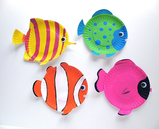 Nemo Themed Paper Plate Craft