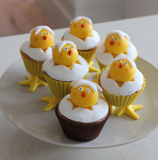 Easter Cup Cake Chicks
