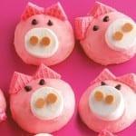 Cute Little Pigs using Marshmallows