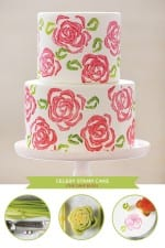 DIY: Celery Stamp Rose Cake