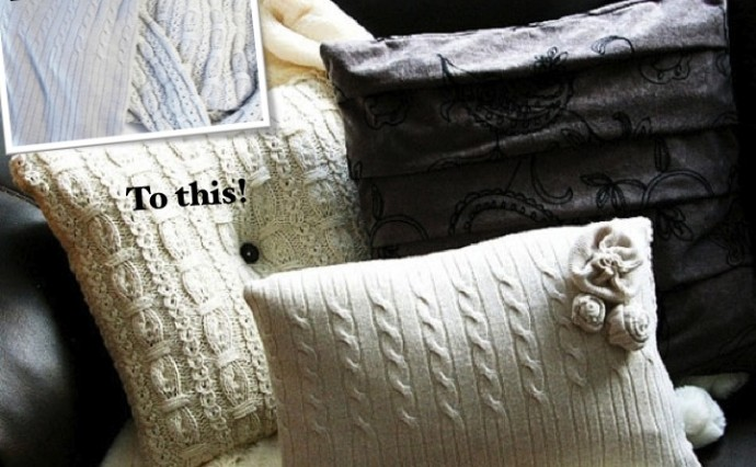 Turn your old Jumpers into Fabulous Pillows