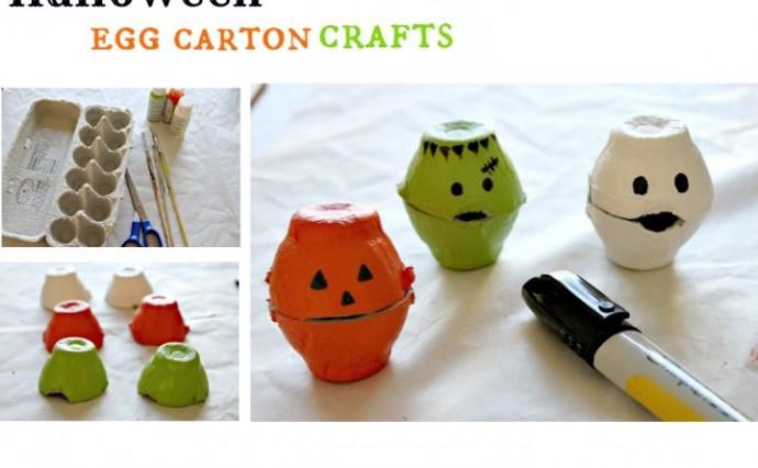 Halloween Egg Carton Craft