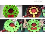 Pull Apart Christmas Wreath Cake