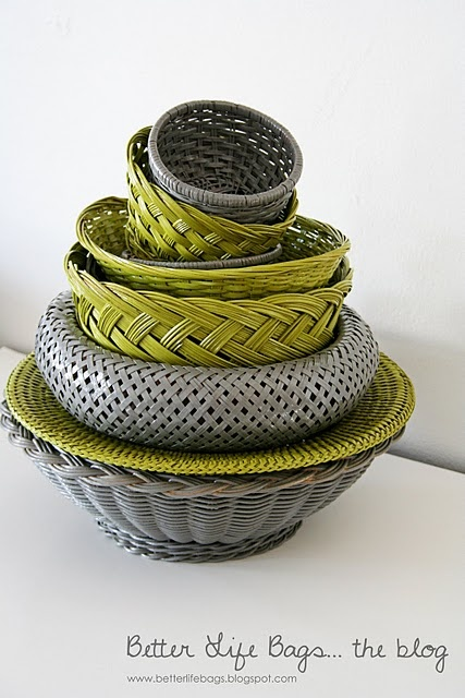 Spruce up your old wicker baskets
