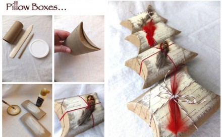 D.I.Y. Cardboard Roll Pillow Boxes